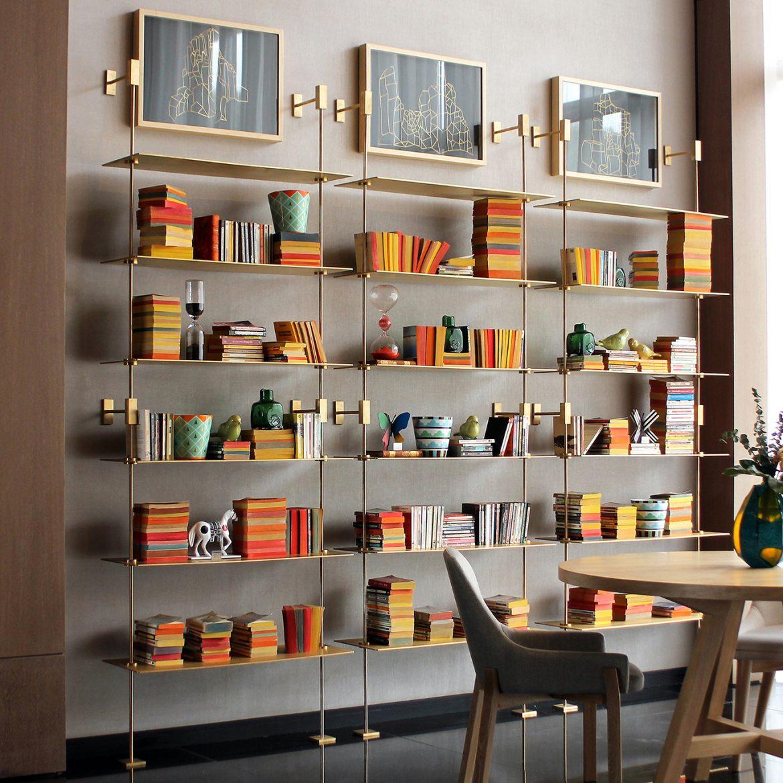 Bronze bookshelf